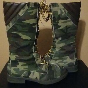 Camo Combat Boots